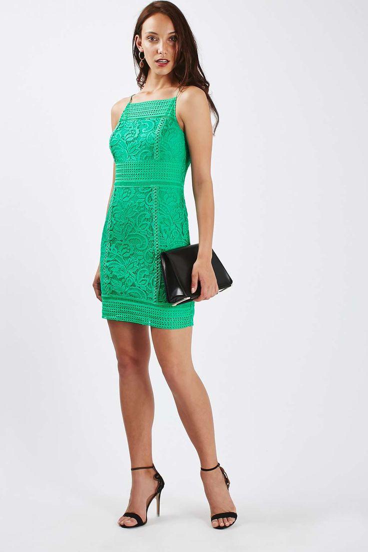 PETITE Floral Crochet Dress