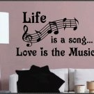 Music...: Vinyls Wall, Vinyls Letters, Music Theme, Love Is, Art Decals, Wall Quotes, Wall Letters, Letters Quotes, Theme Vinyls