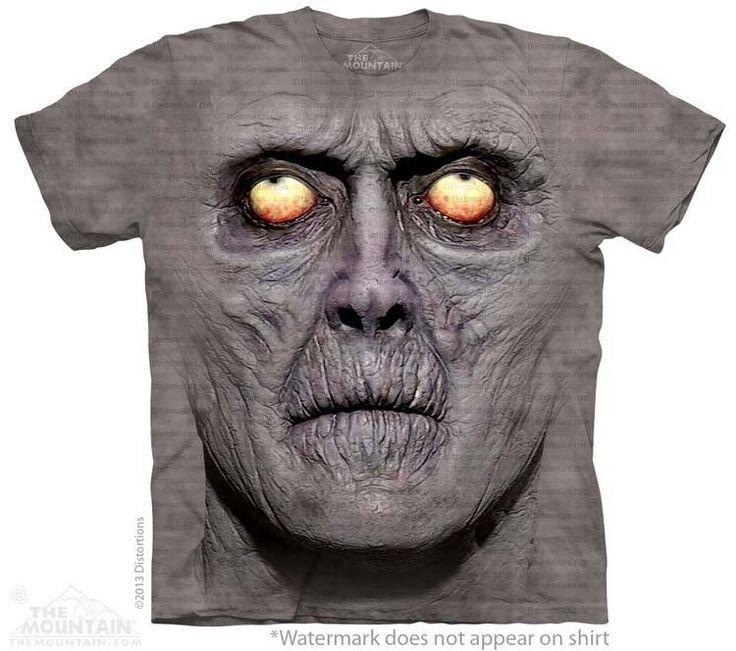Zombie Portrait T-Shirt - Alien T-Shirts - tees - green t-shirts - funnny tshirts - fantasy t-shirts - scary t-shirts - zombie t-shirts - death t-shirts - gift ideas for christmas - ideas for christmas - unicorn t-shirts - robot t-shirts - epic t-shirts