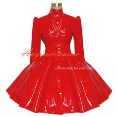 Free Shipping Sexy Sissy Maid Gothic Lolita Punk Red Pvc Dress Cosplay Costume Tailor-made #Sissy maids http://www.ku-ki-shop.com/shop/sissy-maids/free-shipping-sexy-sissy-maid-gothic-lolita-punk-red-pvc-dress-cosplay-costume-tailor-made/