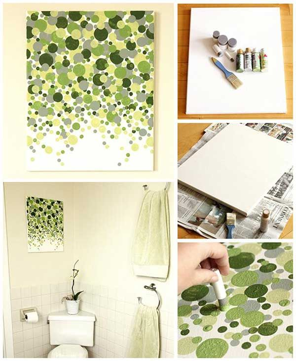 27 Easy DIY Ways To Make Your Walls Look Uniquely Amazing I like this in my favorite colors!!!