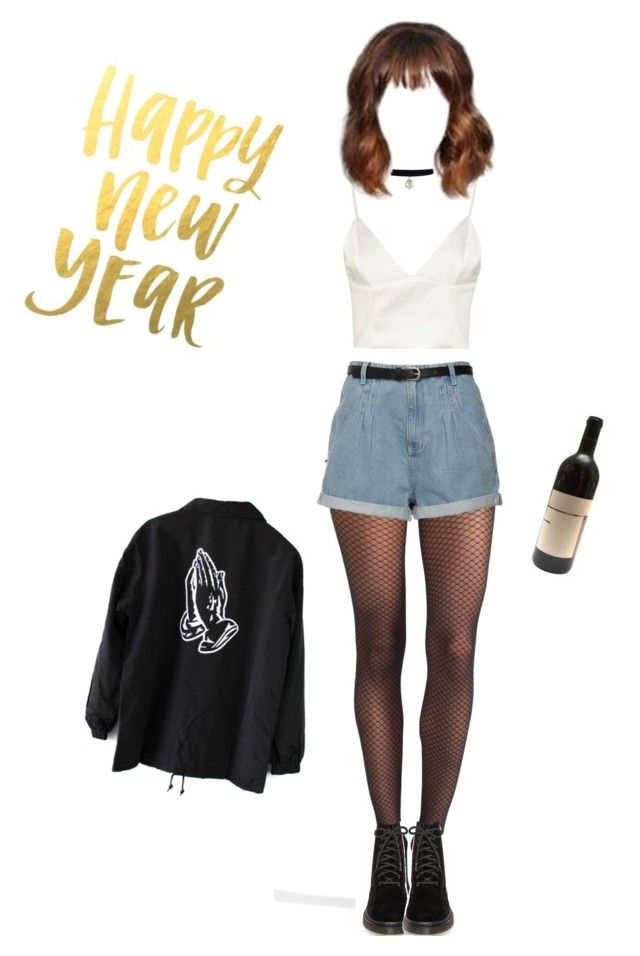 """New year's eve"" by sorcharose on Polyvore featuring Topshop, Wolford and Dr. Martens"
