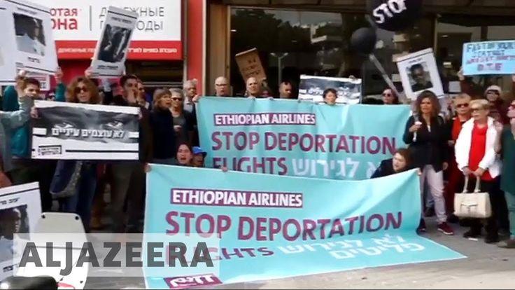🇮🇱 African refugees on hunger strike in Israel - YouTube