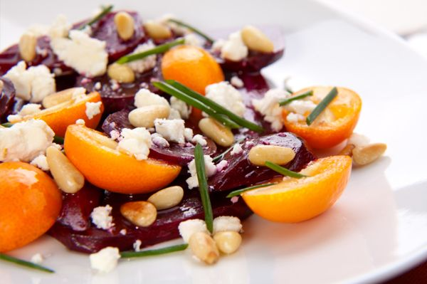 beetroot, tomato, rosemary, goat cheese, pine nuts... need I say more?