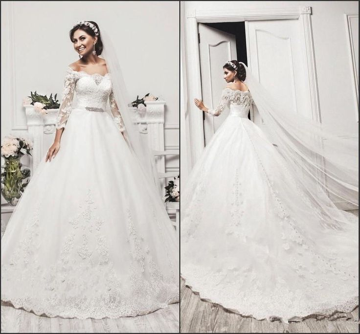 New 2017 White/ivory Bridal Gown Wedding Dress Custom size 4-6-8-10-12-14-16-18+