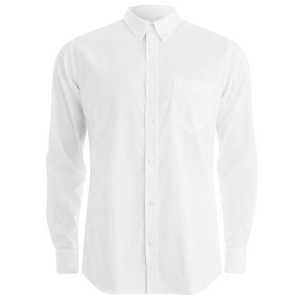 Private White VC Men's Button-Down Oxford Shirt - White ($250) ❤ liked on Polyvore featuring mens, men's clothing, men's shirts, men's casual shirts y white