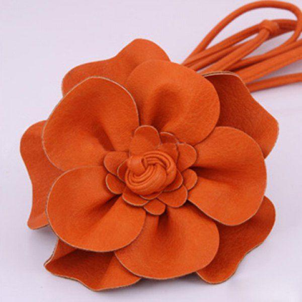 Exquisite Solid Big Flower Embellished Belt For Women #women, #men, #hats, #watches, #belts