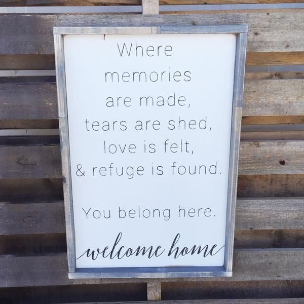 Welcome Home Sign | Home Sign