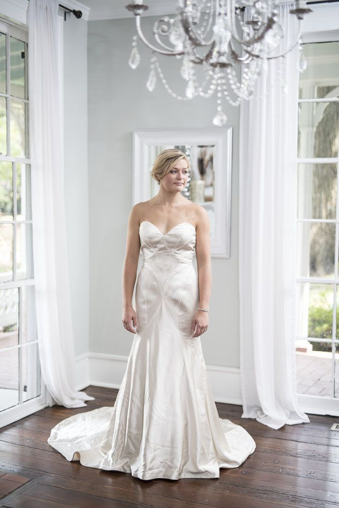 Matthew Christopher   Vivian   Simple, Modern Take On A Classic Shape. Rent  Or. Magnolia WeddingGowns OnlineDesigner ...