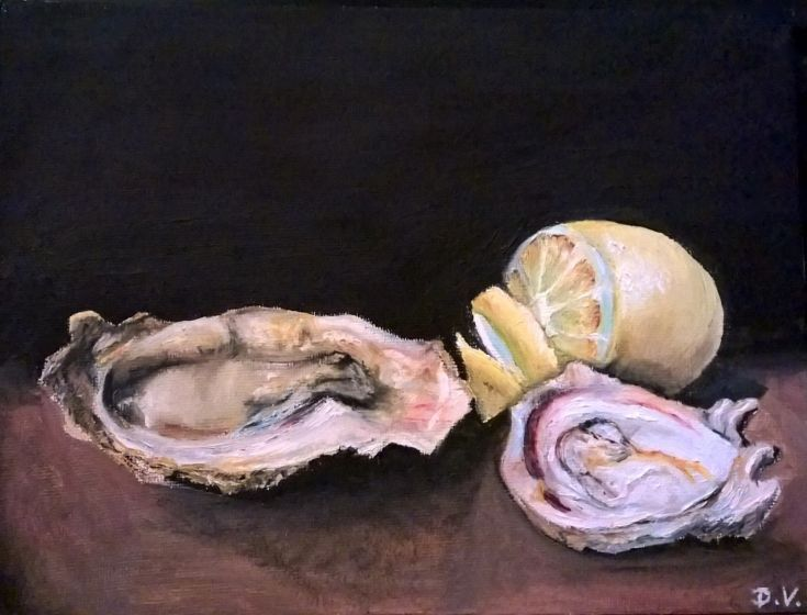 Buy oyster still life, Oil painting by Viktória Déri on Artfinder. Discover thousands of other original paintings, prints, sculptures and photography from independent artists.