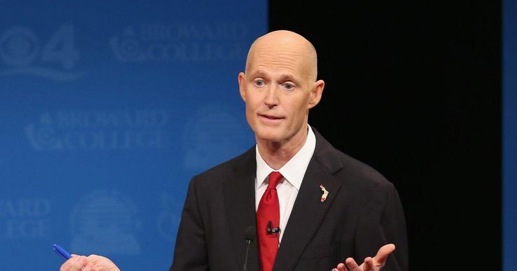 Trump-loving Florida Gov. Rick Scott received a scalding order at a Starbucks Tuesday — and it definitely wasn't a coffee.