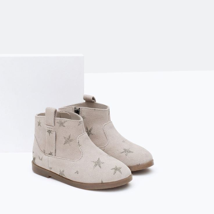 STAR LEATHER BOOTS-Shoes-Baby girl-Baby | 3 months - 3 years-KIDS | ZARA United States