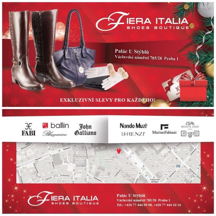 VÁNOČNÍ VÝPRODEJ!!! SLEVY DO 70%!!! Vaclavske namesti 28. Pasáž U STYBLU. FIERA ITALIA.Shoes boutique.