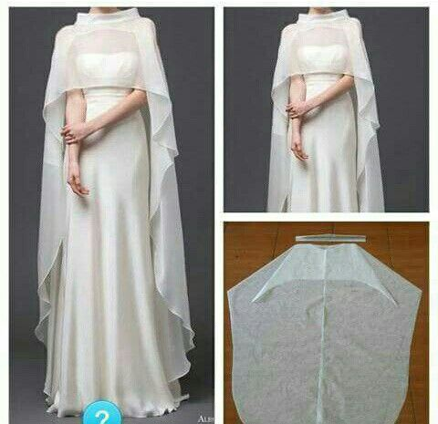 Love the cape. This would be so easy to make.....gauze would be perfect over a sleeveless maxi.