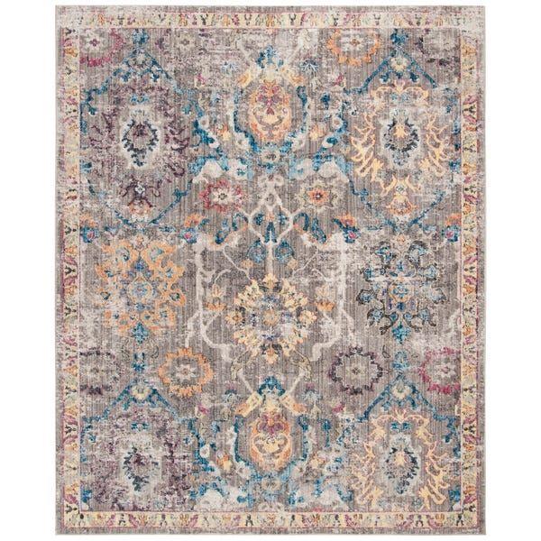 Safavieh Bristol Dezzie Vintage Boho Oriental Polyester Rug Vintage Area Rugs Polyester Rugs Mediterranean Blue Paint