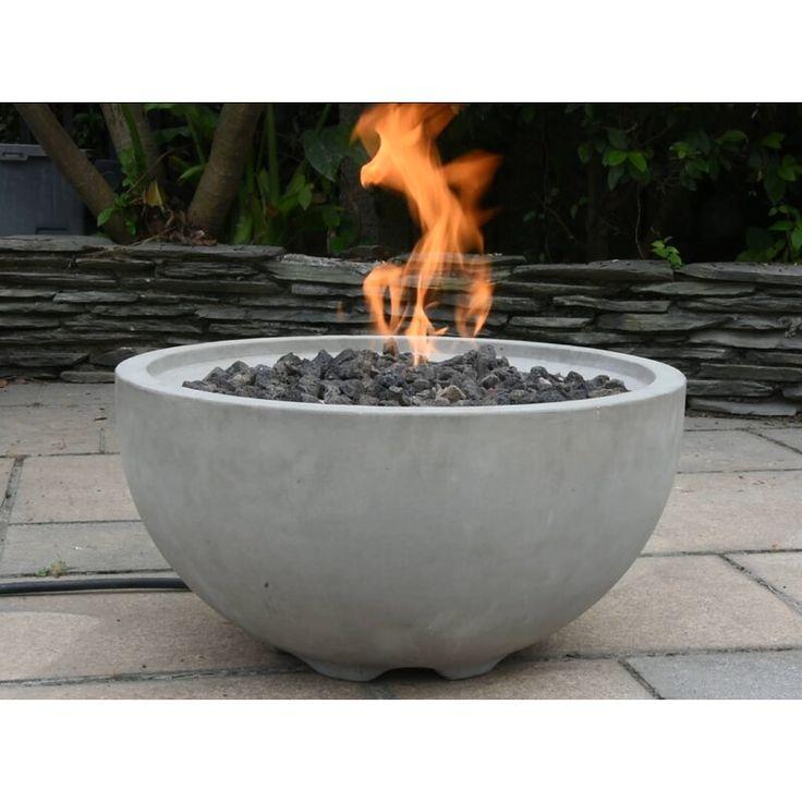 Aswaldi Concrete Natural Gas Fire Pit in 2020 | Natural ...