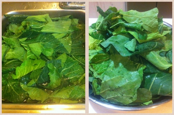 Fresh greens are always better! Remember to wash at least twice before cooking to remove all dirt.