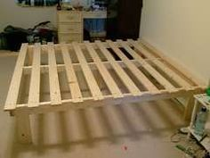 super cheap bed frame build $30- option and add large storage bins underneath