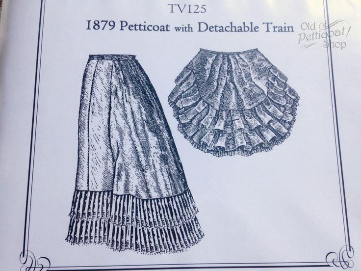 Truly Victorian TV125 1879 Petticoat Pattern with Detachable Train – Old Petticoat Shop