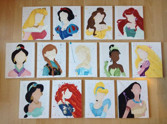 Buy 9 Get 4 Free Disney Princess Abstract Paintings Lot of 13