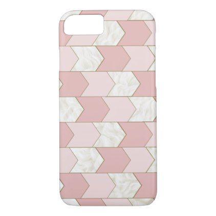 Pink and Fur Chevron Phone Case - modern style idea design custom idea