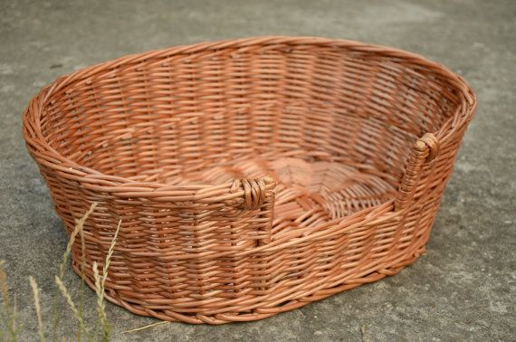 Small Dog/ Cat Basket Small Dog Bed Small Dog by WillowSouvenir