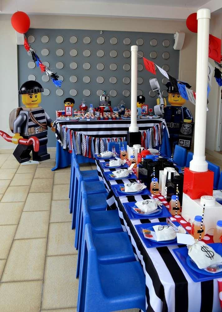 LEGO City / Police Birthday Party Ideas | Photo 2 of 35 | Catch My Party