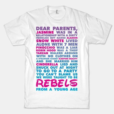 Taught To Be Rebels | HUMAN | T-Shirts, Tanks, Sweatshirts and Hoodies