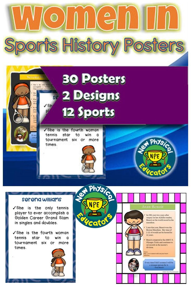 Famous Women in Sports Biography Posters #Social #socialstudies #history #Physicaleducation #womenshistory #bulletinboard #Ideas #literacy #literacyideas #culturalactivities #womeninsports #fitnessinspiration #fitnessworld #health #healthylifestyle #healthybody