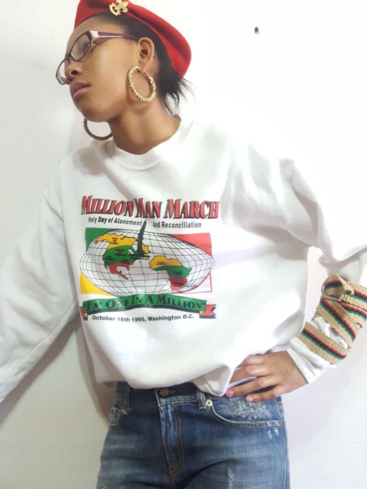 1995 Million Man March Vintage Sweatshirt sz. XL