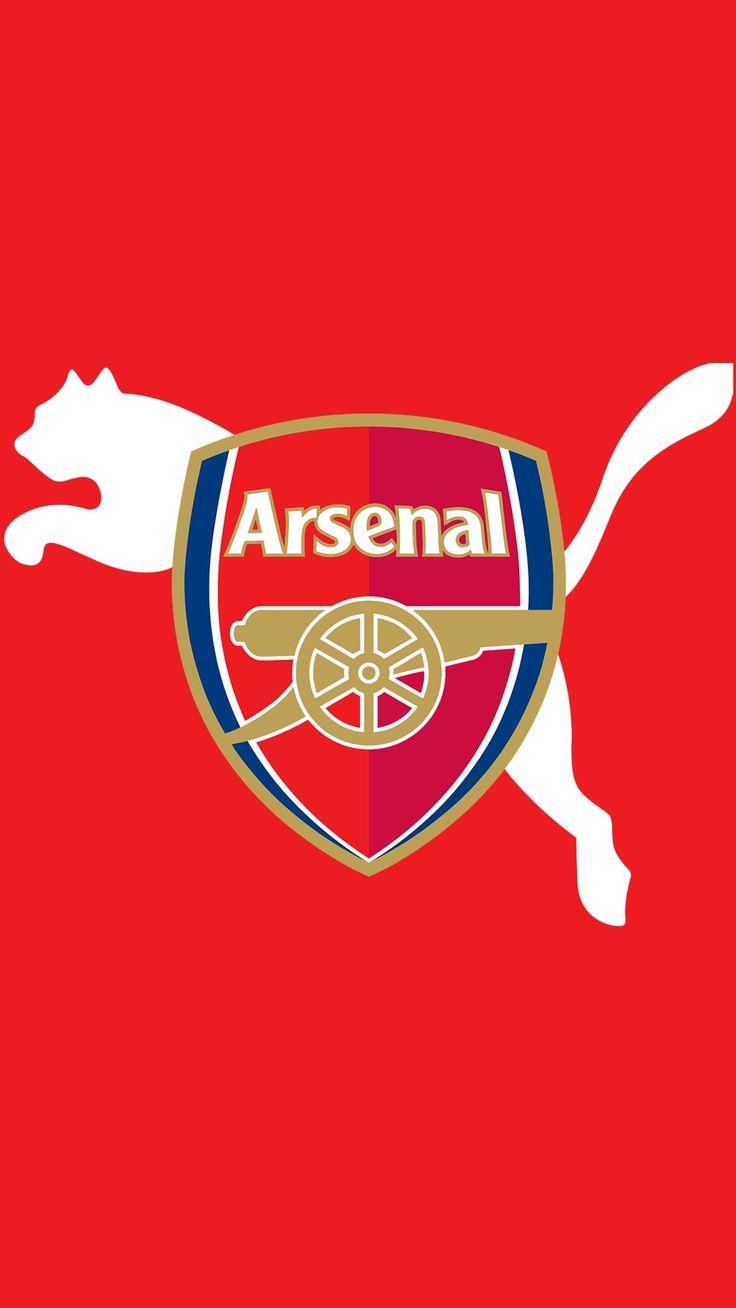 red background arsenal logo wallpaper for mobile
