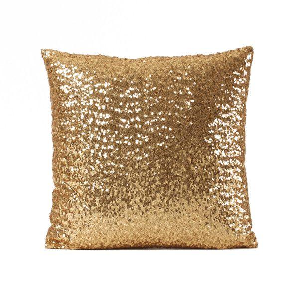 Poduszka z cekinkami Shiny Gold, 33x57 cm   Bonami