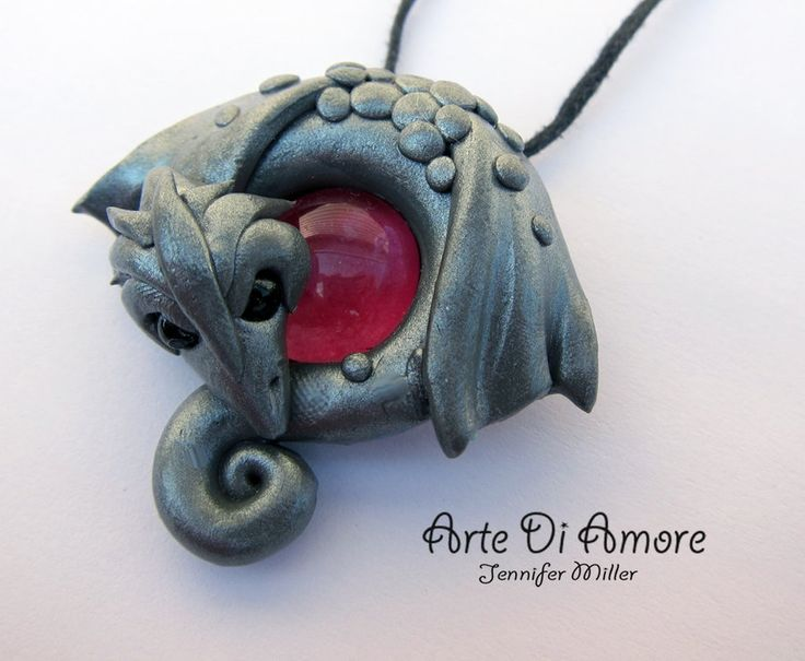 Silver Dragon Pendant by ~ArteDiAmore on deviantART