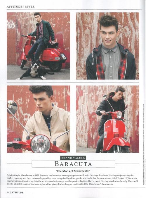 Baracuta in Attitude magazine