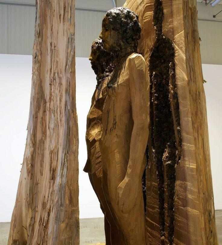 Aron Demetz, Sequoia, 2010  @ Galleria Doris Ghetta installation view AUTARK. Aron Demetz - Robert Pan