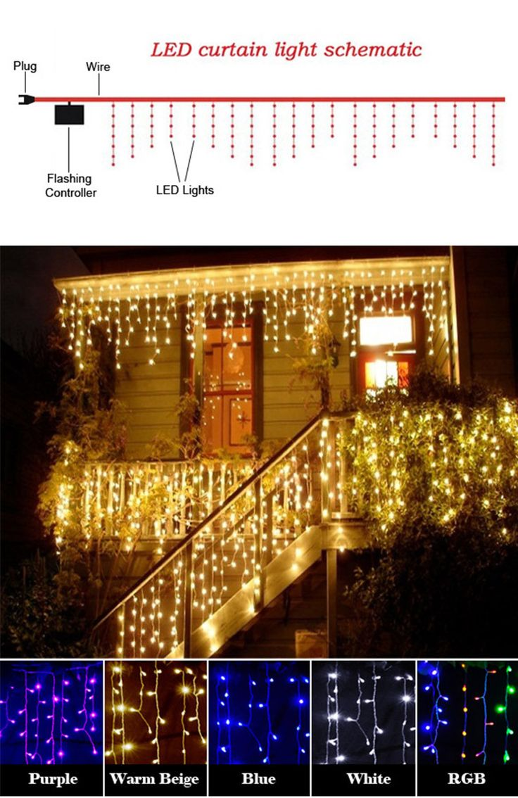 Christmas Outdoor Decoration 3.5m Droop 0.3-0.5m Curtain icicle string led lights 220V New year Garden Xmas Wedding Party,EU PLUG 22OV / US PLUG 110V USD 26.65/pieceUSD 46.65/pieceUSD 16.10/pieceUSD 6.25-7.64/pieceUSD 12.80/lotUSD 21.65/pieceUSD 6.50-7.80/pieceUSD 3.32-3.82/piece Features Material: Plastic, Electric Component Light Color: White, Warm Beige(Warm White), Blue, Purple, RGB(Colorful ) String Length: 3.5M Droop: 0.3-0.5mVoltage:EU Plug ...