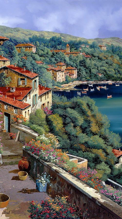 Il Promontorio by Guido Borelli - Il Promontorio Painting - Il Promontorio Fine Art Prints and Posters for Sale