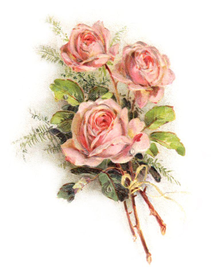 Картинки ретро цветы, картинка