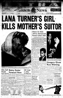 Fifty years ago, Hollywood was rocked by a scandal involving Love Goddess Lana Turner. While scandal was nothing new in Hollywood, this was something the town had never seen before. Lana's lover Johnny Stompanato had been stabbed by her daughter Cheryl Crane.