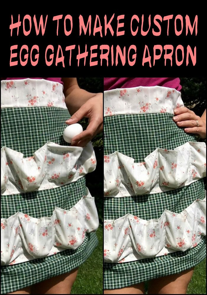This custom apron has ten pleated pockets which cup eggs gently, so you don't have to worry about fallen or broken eggs. Need one?