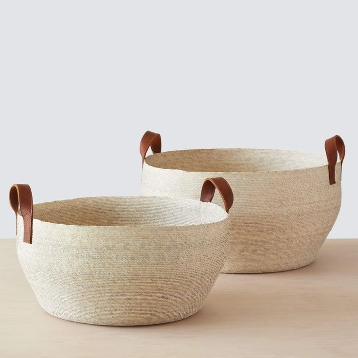 We partner with artisans to create modern goods for the well-traveled home. Storing Books, Alpaca Throw, Leaf Coloring, Large Baskets, Basket Decoration, Storage Baskets, Storage Boxes, Storage Organization, Leather Handle