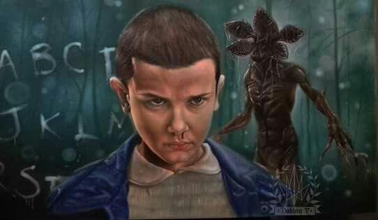 Eleven - Stranger Things. Artist Daking Y