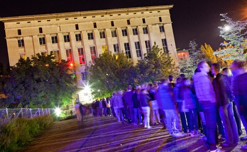 The Berghain's infamous que. Clubbing in Berlin come October. Bring. It. On!