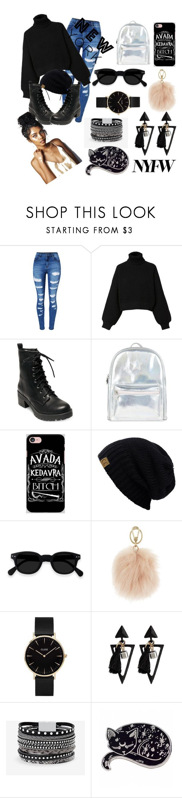 """""""New York Fashion Weekkkkk"""" by issaasnackk ❤ liked on Polyvore featuring WithChic, Diesel, Madden Girl, Accessorize, Samsung, Furla, CLUSE and White House Black Market"""