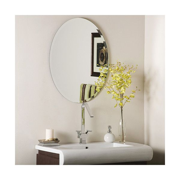 Decor Wonderland Odelia Oval Beveled Frameless Mirror ($106) ❤ liked on Polyvore featuring home, home decor, mirrors, frameless mirror, window mirror, oval mirror, frameless beveled wall mirror and vertical mirror