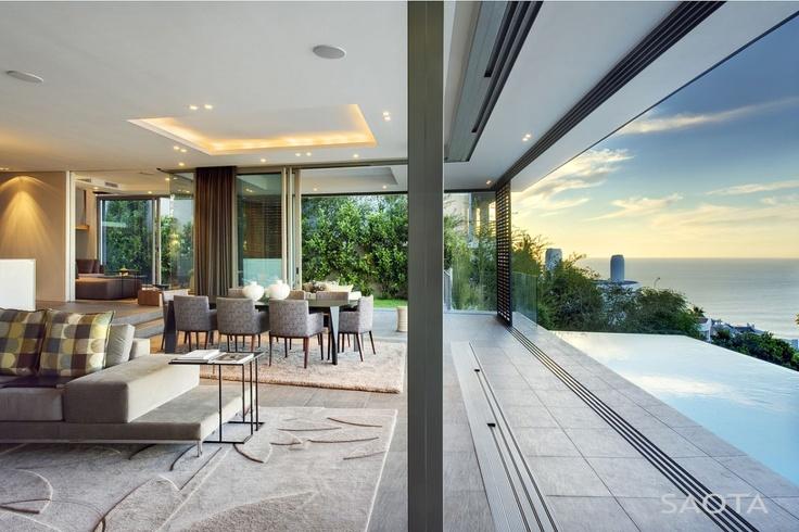 Outside / inside living area, dining room, sliding shutters