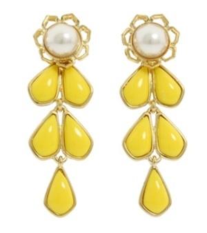 Kate Spade New York sweet zinnia chandelier earrings $70