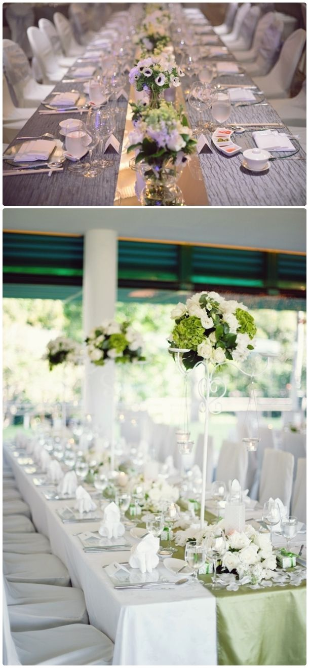 long table setup wedding reception%0A Table Arrangements For Wedding Receptions Long Table White Classic   visit  www lovelyweddingideas com