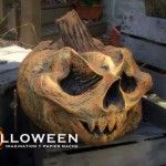 Awesome and easy #paper mache pumpkins and other #halloween art!