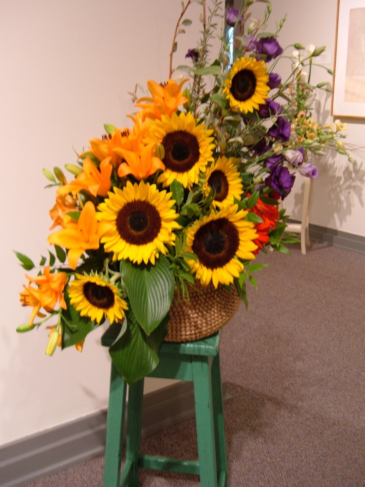 Floral Arrangements Using Sunflowers : Best flowers images on pinterest
